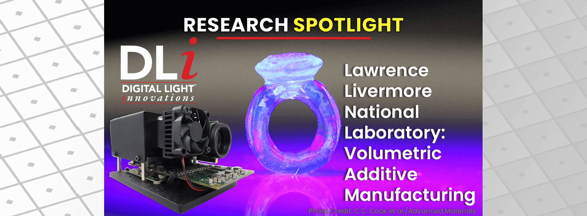LLNL Expands the Versatility of Volumetric Additive Manufacturing